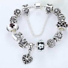 beaded silver bracelet pandora images Pandora replica charm bracelets silver crystal charms jpg