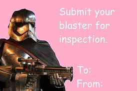 Star Wars Valentine Meme - star wars the force awakens valentine s cards