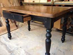 Black Farmhouse Table Hand Made Harradine Kitchen Table By Farmhouse Table Company