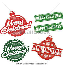 vectors illustration of vintage merry christmas stamps a