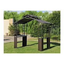 Sunjoy Tiki Gazebo by 449 Until July 09 Sunjoy Hardtop Slate Bbq Steel Gazebo At