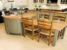 kitchen island with attached dining table amazing kitchen rustic round table ideas with attached dining image