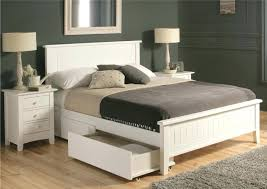White King Platform Bed Platform Bed Frames Storage White Platform Bed