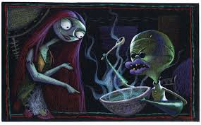 sally and dr finkelstein concept artwork from the nightmare before