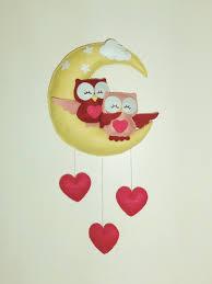 jeux de amoure dans la chambre mobile décoration ou plaque de porte pour chambre enfant hibou et