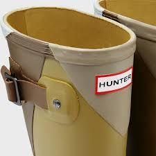 hunter men u0027s original short dazzle rain boots in green for men lyst