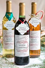 Christmas Wine White Christmas Holiday Wine Labels Label Wording Ideas Gift