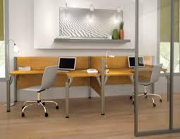 l shaped workstation double side by side desks furniture