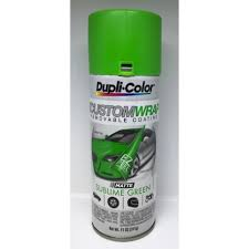 duplicolor custom wrap matte sublime green 11oz automotive paint