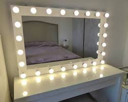 wall vanity mirror with lights makeup vanity table etsy