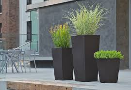 Cheap Tall Planters by Outdoor And Patio Grey Corner Tall Outdoor Planters With Wooden