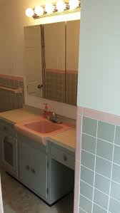 Pink Tile Bathroom Need Help With My 50s Grayish Blue And Pink Tile Bathroom