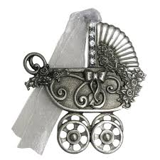 gloria duchin inc genuine pewter baby carriage ornament