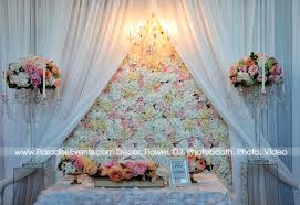 wedding backdrop setup chandelier rental vancouver flower wall backdrop pipe and drape