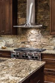 unique modern kitchen stone backsplash tile contrasts w the