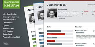 Free Business Resume Template 40 Premium And Free Resume Templates Web Design Burn