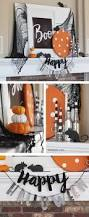 boo halloween mantel with mice diy halloween mantels and mice