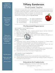 example of teachers resume resume examples and free resume builder