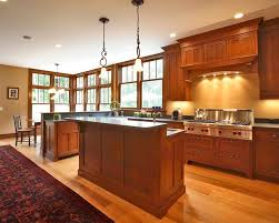 cherry mission style cabinets houzz