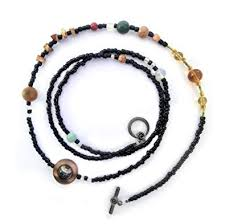 large beads necklace images Solar system necklace large beads gemstone planets jpg