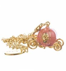 Pumpkin Carriage Gold Plated And Enamel Cinderella Pumpkin Carriage Charm And