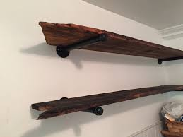 Galvanized Pipe Shelving by Bathroom Shelves Made From Barn Wood And Galvanized Pipe