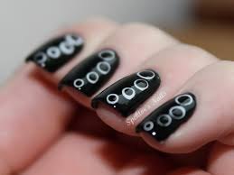 nail art general excellent glossy black nail art design idea with