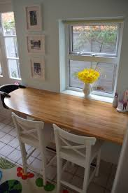 Oak Breakfast Bar Table Bar Table Small Space For The Home Pinterest Small Spaces