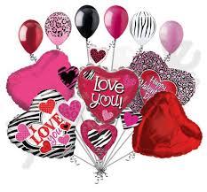 heart balloon bouquet animal print cluster i you hearts balloon bouquet
