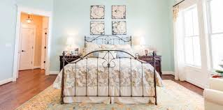 bedroom vintage home decor for bedroom using white iron bed frame