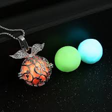 wholesale vintage luminous locket necklace glow in the