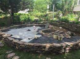 Patio Pond by Patio And Fire Pit In Frederick Md Premier Ponds
