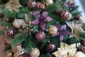 tree purple lights decoration