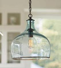 Beautiful Aqua Glass Pendant Light Aqua Pale Blue Pinterest