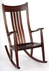 Real Wood Rocking Chairs Walnut Rocking Chair U2014 Large Format Front View
