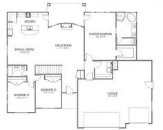 Floor Plan Simple House Simple One Story Open Floor Plan Rectangular Google Search