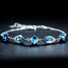 blue crystal bracelet images Luxury blue crystal bracelet with silver chain 100068 62 99 jpg