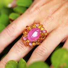 pink sapphires rings images Vintage pink sapphire ring with briolette sapphire 39 s 18k 27ctw jpg