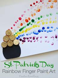 rainbow finger paint st patrick u0027s day craft creative ramblings