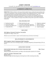 Service Technician Resume Sample Automotive Technician Resume Examples Template Billybullock Us