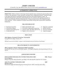 Mechanical Technician Resume Automotive Technician Resume Examples Template Billybullock Us