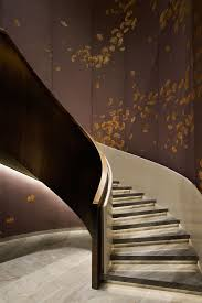 Radius Stairs by Yabu Pushelberg Waldorf Astoria Beijing With Wood Instead Of