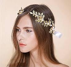 goddess headband goddess headband gold leaf crown headpiece