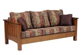 Mission Sleeper Sofa Mission Seating Sofa In Solid Hardwood Ohio Hardwood Furniture