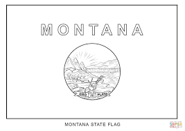 flag of montana coloring page free printable coloring pages