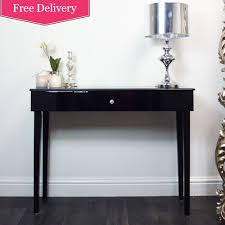 Black Console Table Contemporary Designed Console Table With Single Storage Drawer