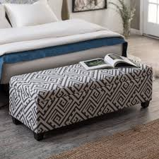 linen storage ottoman bench chic large storage bench ottoman sandford linen for popular home