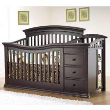 Pottery Barn Convertible Crib by Babyletto 3 1 Mercer Brown White Crib U0026 Drawer Aptdeco