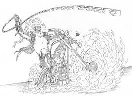 ghost rider coloring pages website construction bebo