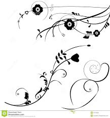 black flower ornaments vector background stock vector image